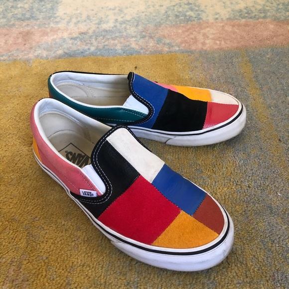 Vans Shoes | Color Block Slipon | Poshmark